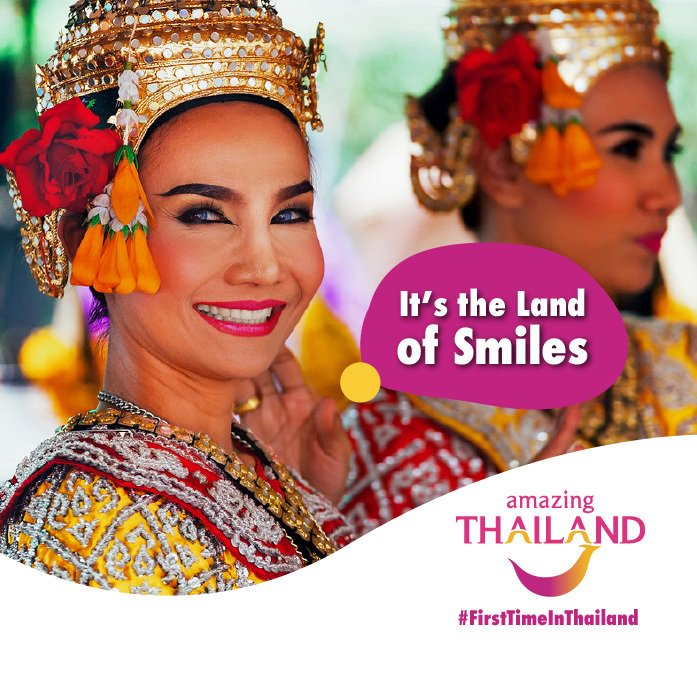 """#FirstTimeInThailand Thailand is that it has been named the """"Country of Smiles"""". Yes, the people really are ﹡that﹡ nice. #amazingthailandsouthafrica #thailand #travel #tourism #bangkok #phuket #krabi #phiphi #adventurepic.twitter.com/fMa6qkKdPB"""
