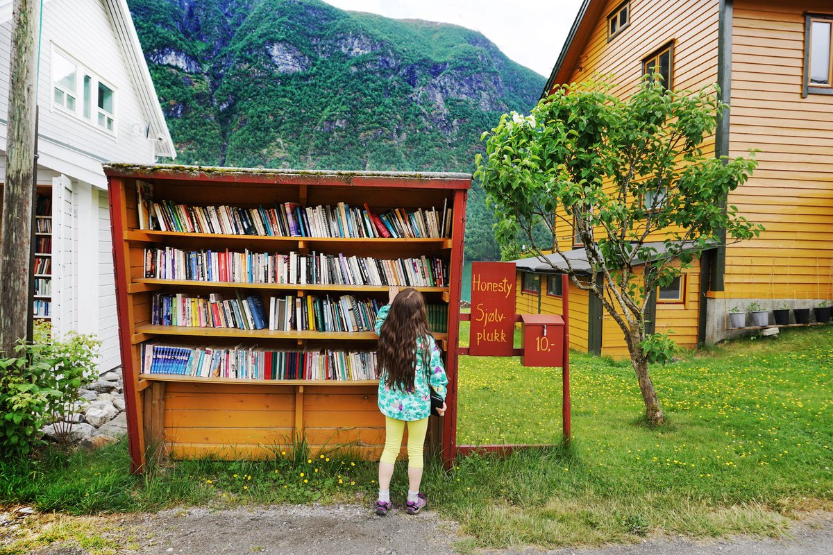 Norwegian small towns Fjærland and Tvedestrand are know as book towns. Here you will find books everywhere: on the pier, bookshelves at bus stops, book cafes, and even a book hotel! 📕 👉 bit.ly/BookTownsNorway