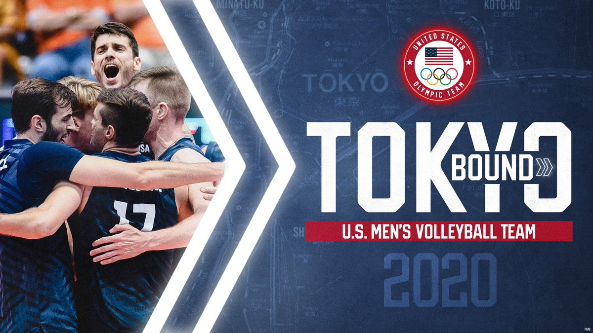 🧹🧹🧹 The men of @usavolleyball are TOKYO BOUND‼️ go.teamusa.org/2TmZP34 | #TokyoOlympics