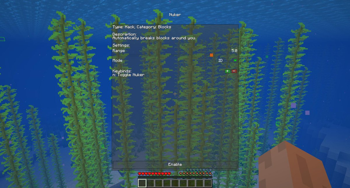 Minecraft nuker mode