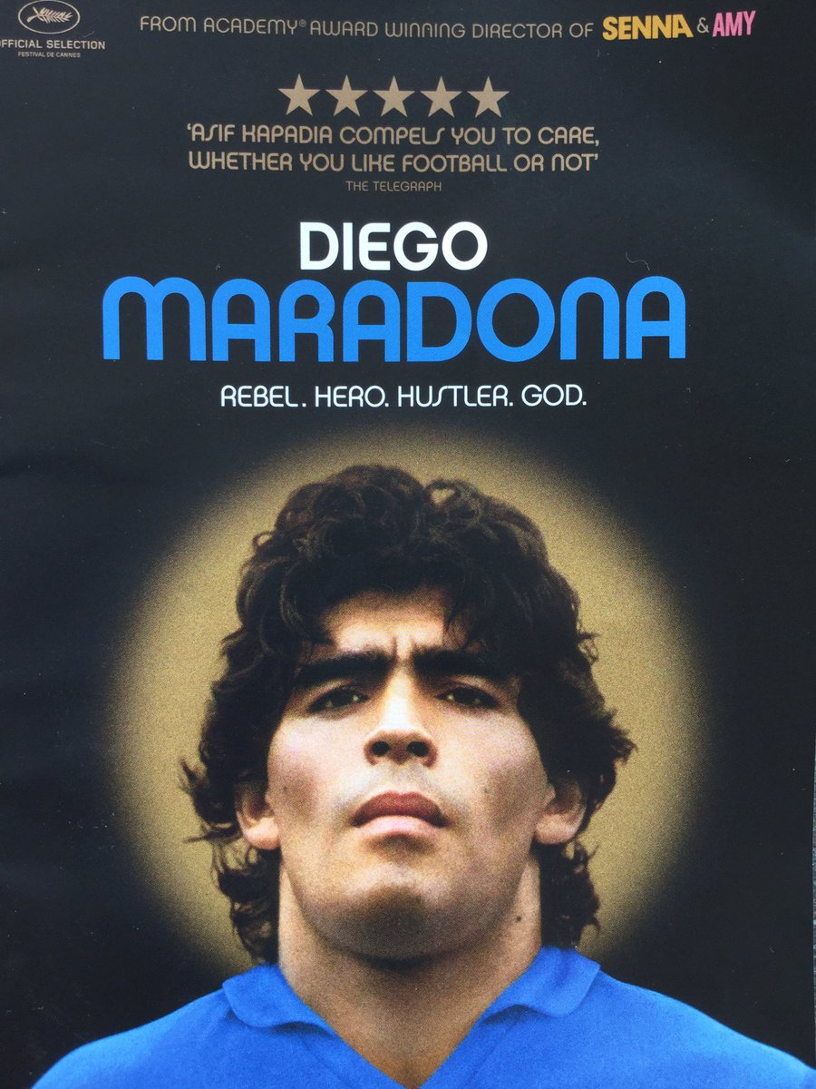 Seen the @MaradonaMovie @filmhuisdenhaag yesterday. What a beautiful and moving portrait of a man with an enormous passion for football!