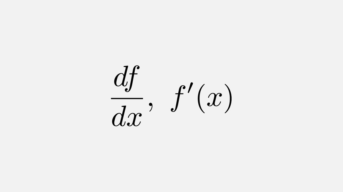 In 1675, Leibniz introduced the notation df/dx for the derivative and 95 years later Joseph Lagrange was the first person to use the notation f(x) for the first derivative.