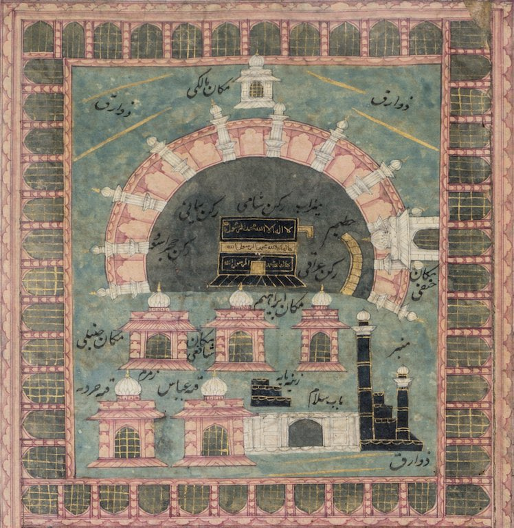 #EidAdhaMubarak to all those celebrating! The festival is celebrated at the end of a Hajj (5th pillar of Islam) 🕋 Img from the Futuh al-Haramayn - from the .@NMnewdelhi collection - a sort of lonely-planet-Guide for pilgrims headed to Hajj. Take a look bit.ly/2TmULvG
