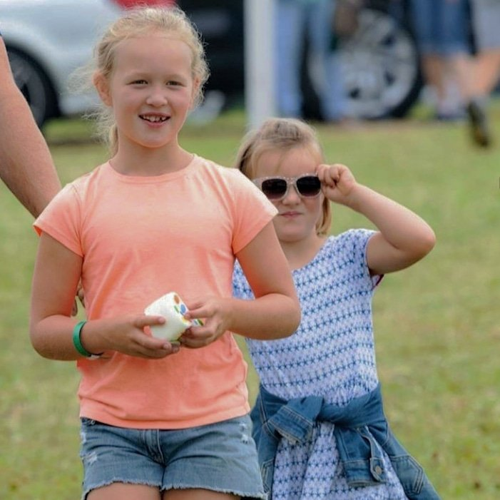 Savannah Phillips, Mia Tindall  and Isla Phillips attend day 2 of the 2019 Festival of British Eventing at Gatcombe Park in Stroud, England  -August 3rd 2019. #SavannahPhillips #IslaPhillips #MiaTindall #England . Last picture  : Mark Stewart/@RegalEyespic.twitter.com/nRys6yNmcS