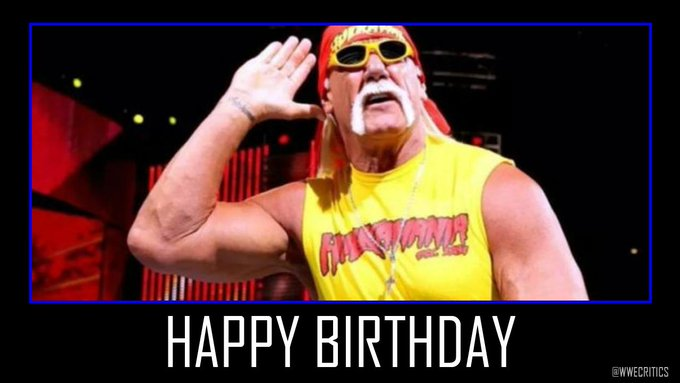 Happy 66th Birthday to Hulk Hogan.