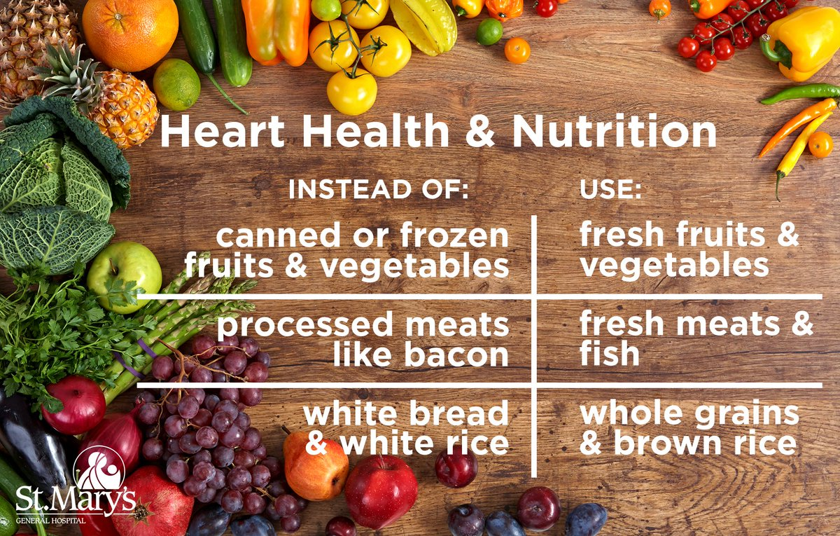 St. Mary's is serious about #hearthealth! Here are three food swaps you can make to keep your heart healthy. <br>http://pic.twitter.com/DD9e1paNNH