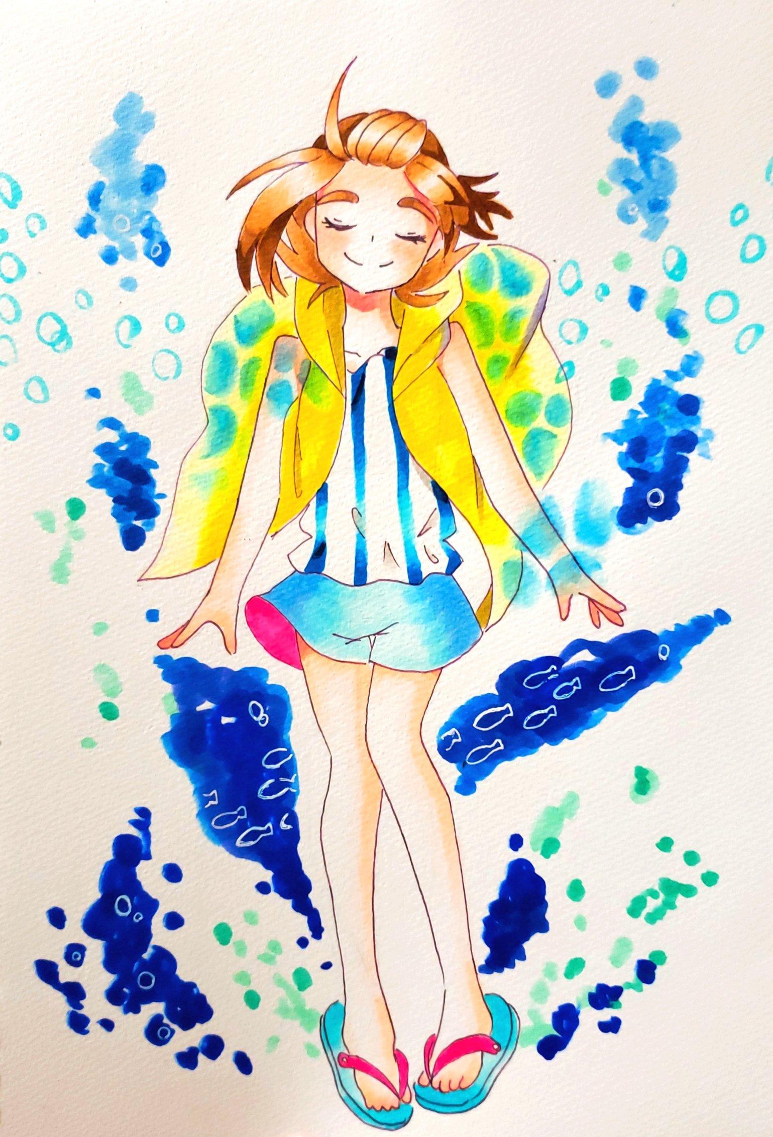花成花蕗 (@kanarikaro)さんのイラスト