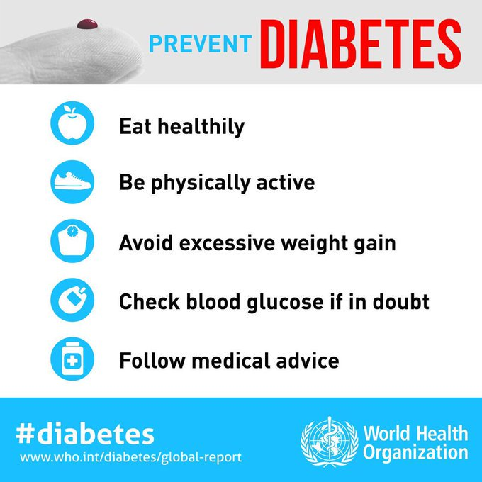 test Twitter Media - @WHOWPRO @pahowho @WHOAFRO @WHOSEARO @WHO_Europe @WHOEMRO We can prevent #diabetes type 2. This is how. Let's #BeatNCDs https://t.co/3Aq9llfHs9