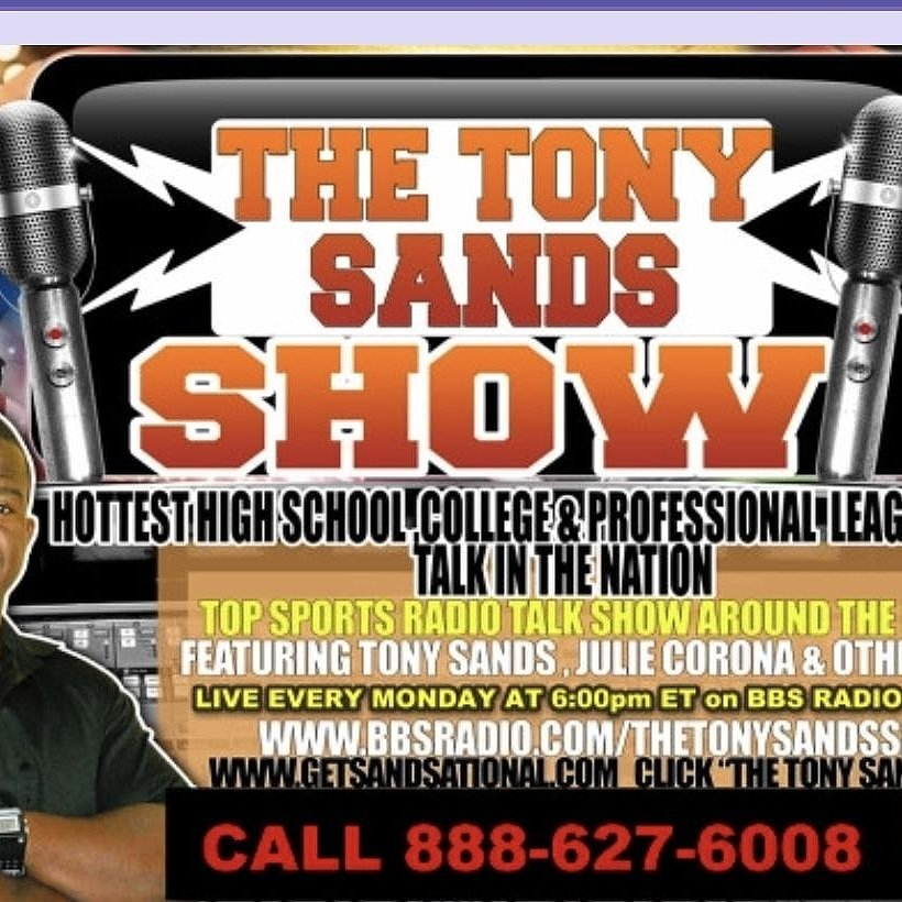 Tomorrow at 7pm Tony Sands Show hottest sports topic