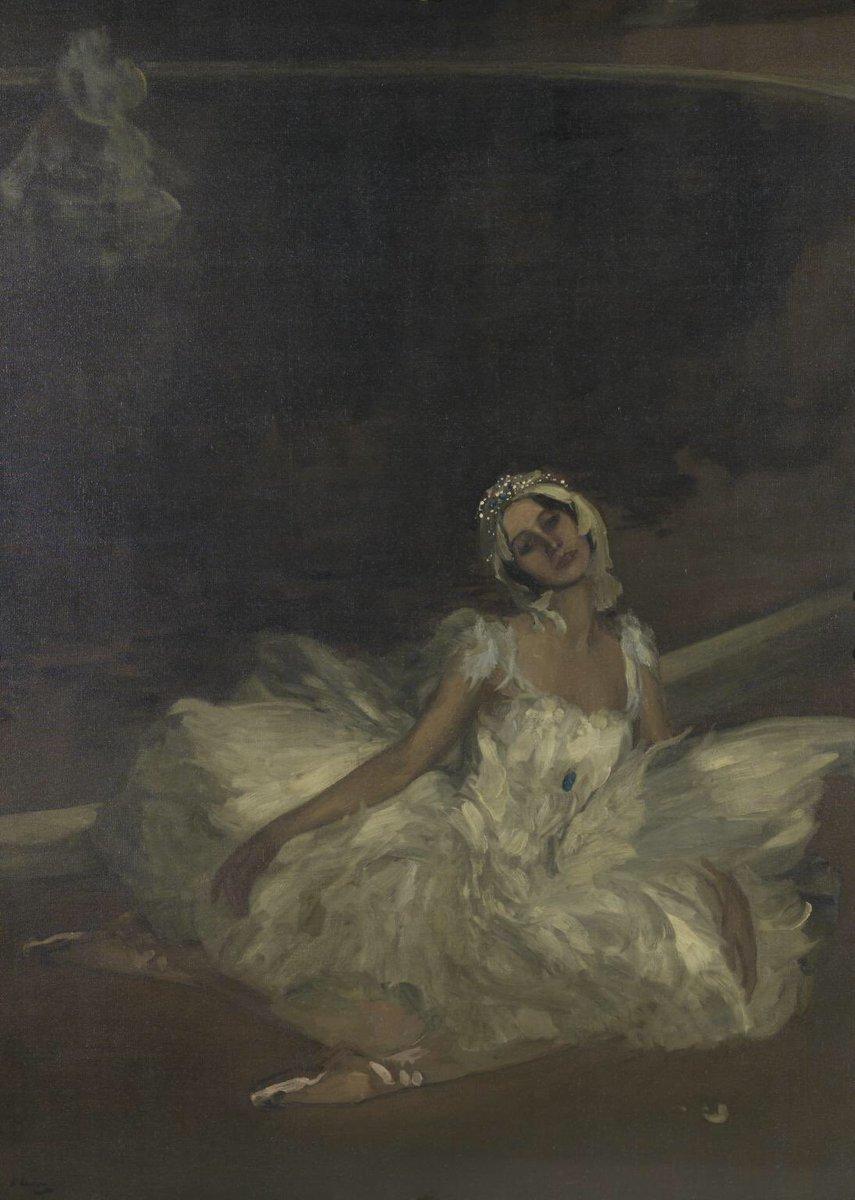 Sir John Lavery, Le Mort du Cygne: Anna Pavlova, oil on canvas, 1911