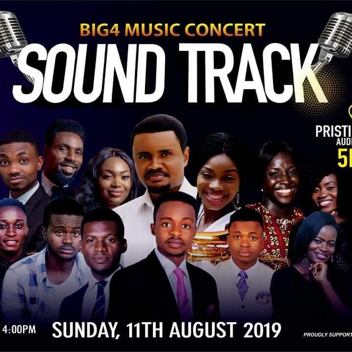 After a wonderful experience in God's presence and tremendous outpour of his blessing, we're capping it up with SOUND TRACK happening live at Pristine Hills church. #Big_4  #Music_Concert #Sound_Track