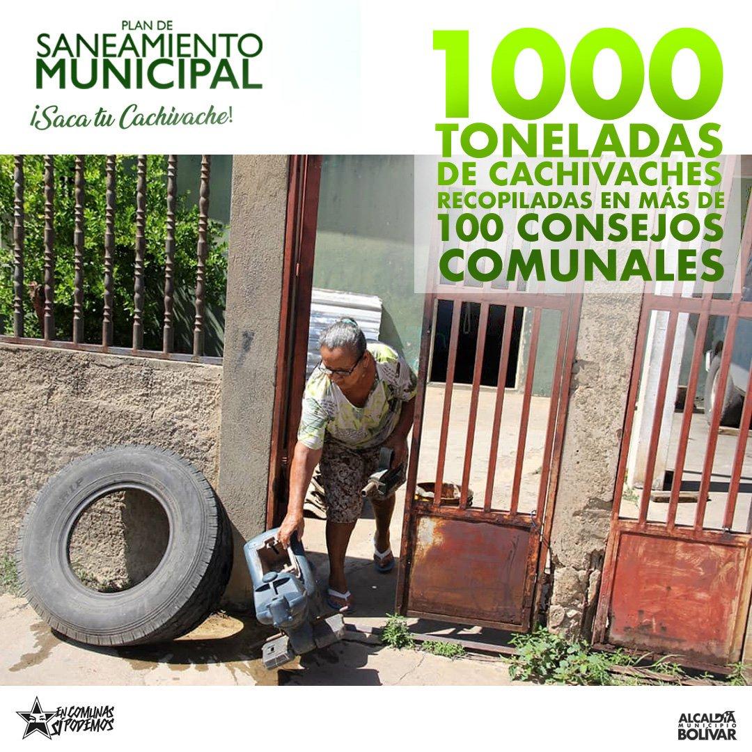 En una semana más de 100 Consejos Comunales han recopilado 1000 toneladas de cachivaches. En #Barcelona estamos decididos a crear un mejor ambiente y una nueva conciencia ecológica en nuestras Comunas. Lo nuestro es trabajar! #EnComunaSíPodemos #BotaEseCachivacheMamá #Anzoategui