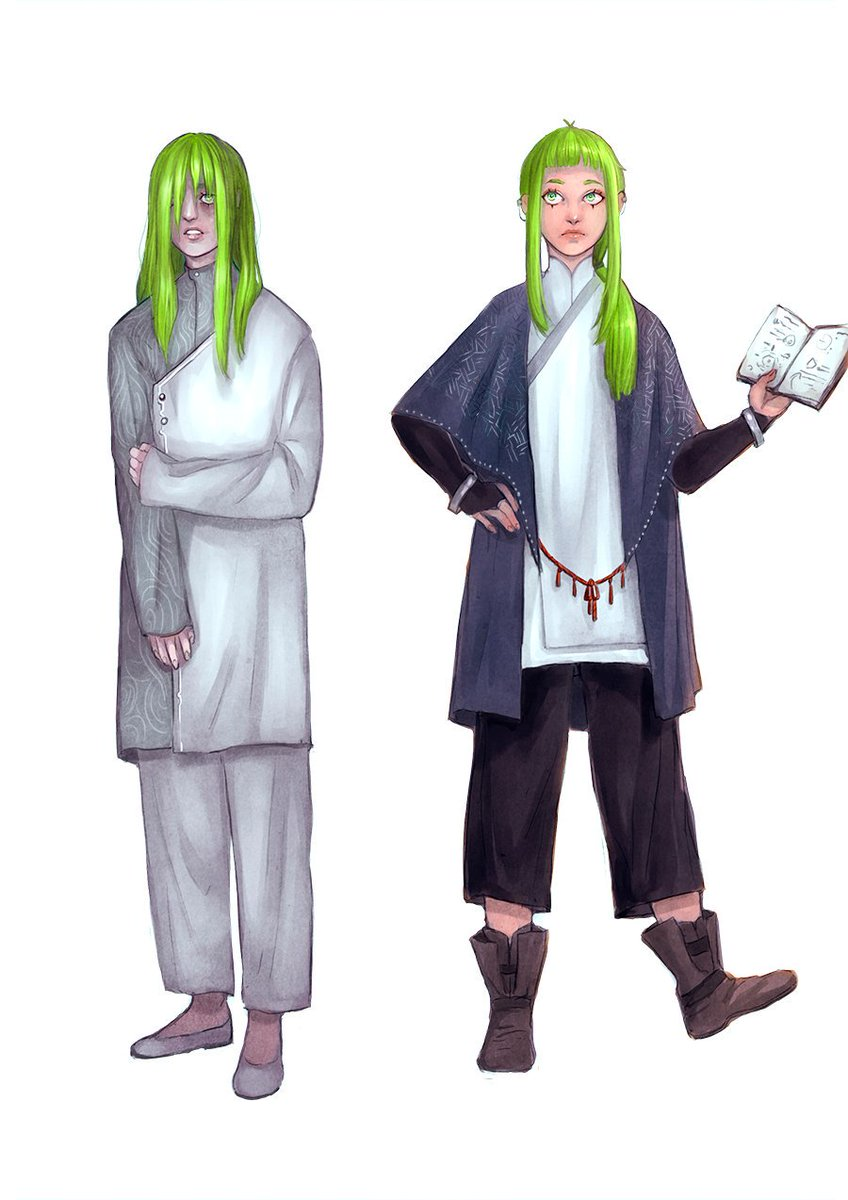 Well, there they are. Full on transion outfits for Odelie, 3 years ago fresh amnesiac bby, 1 year ago and present outfit. I'll draw their travel outfit soon as well. Maybe a bio too?. #TheArcanaGame #Thearcanafanapprentice #thearcanaapprenticepic.twitter.com/Bt1fmLqJn0