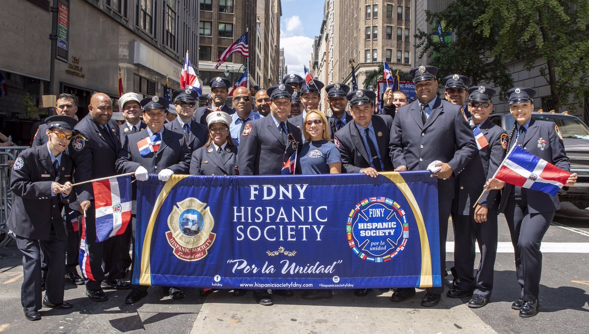 #FDNY members participated in the #DominicanDayParade in NYC #DRParade