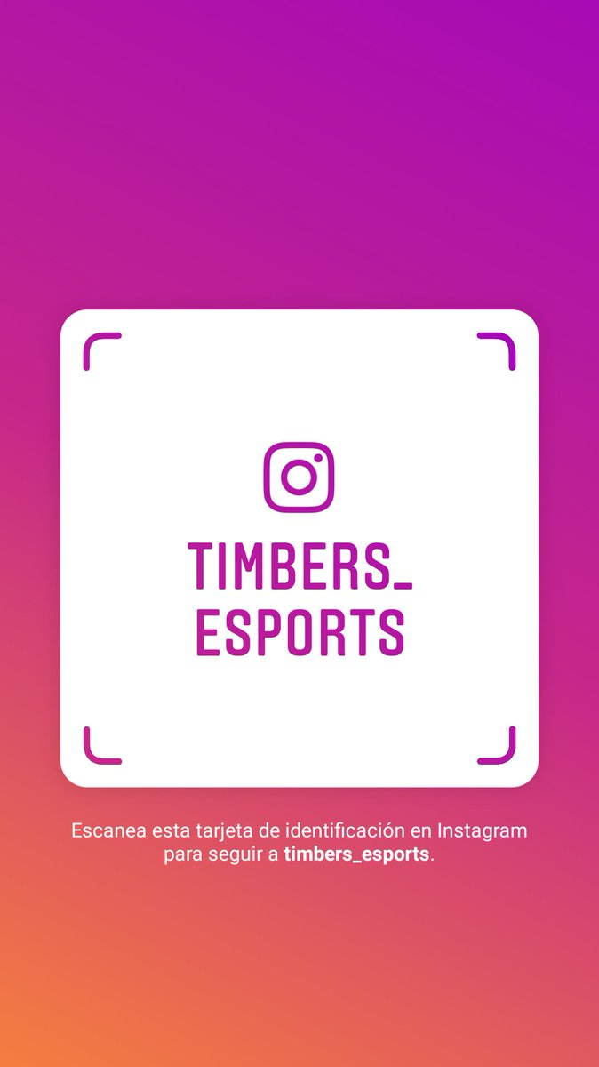 Recuerda que también nos puedes seguir en instagram 🎮☺️https://www.instagram.com/timbers_esports?r=nametag…
