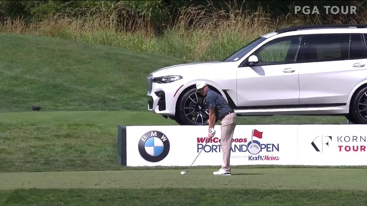 Korn Ferry Tour player makes hole-in-one beside sweet BMW SUV, bummed to learn it wasn't a prize for an ace