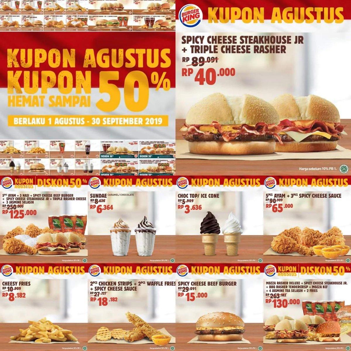 Giladiskon Indonesia على تويتر Burger King Promo Kupon Hemat Bk Diskon Hingga 50 Https T Co G8hikgiuxl Burgerking Promoburgerking Promorestoran Restoran Promomakanan Diskon Promo Promosi Kupondiskon Vouchermakanan Kuponmakanan Burger