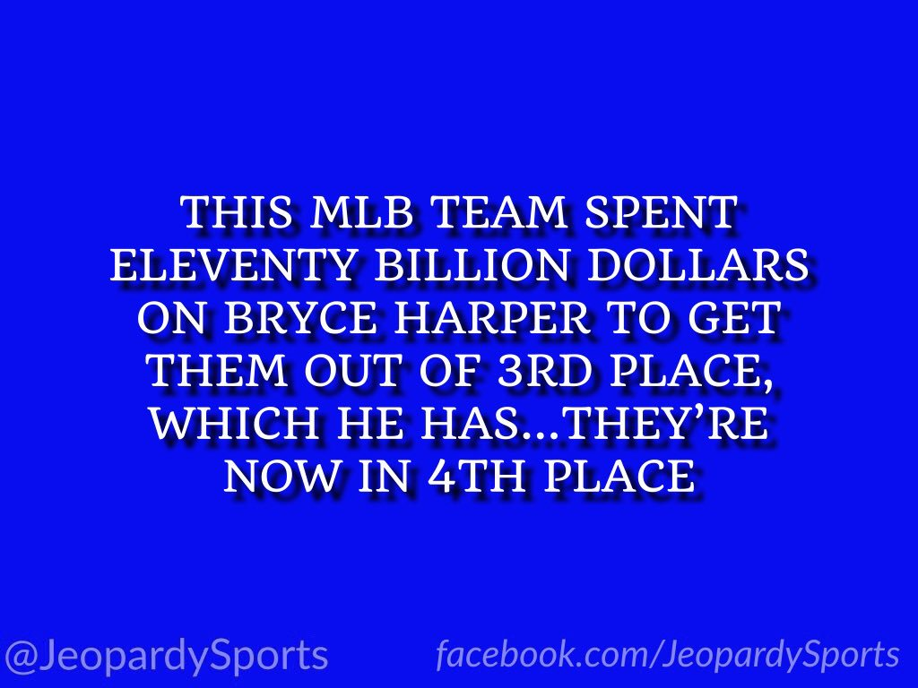 """Who are: the Philadelphia Phillies?"" #JeopardySports #Phillies"