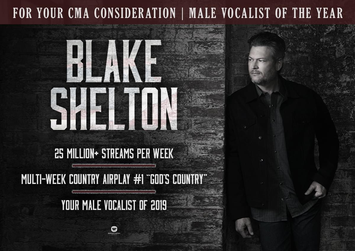 Male Vocalist of the Year @blakeshelton #CMA<br>http://pic.twitter.com/6vTgqLmnLn