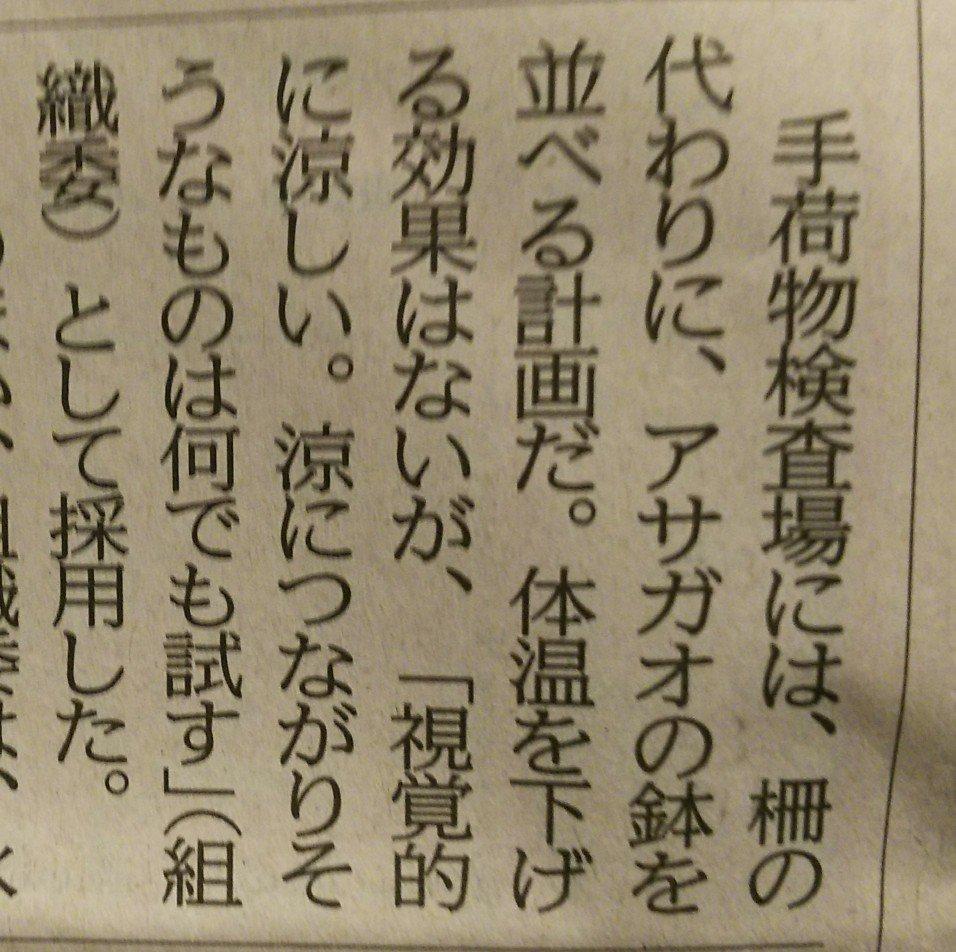 東京五輪の会場周辺にアサガオを並べて暑さ対策?実は体温を下げる効果はないwww