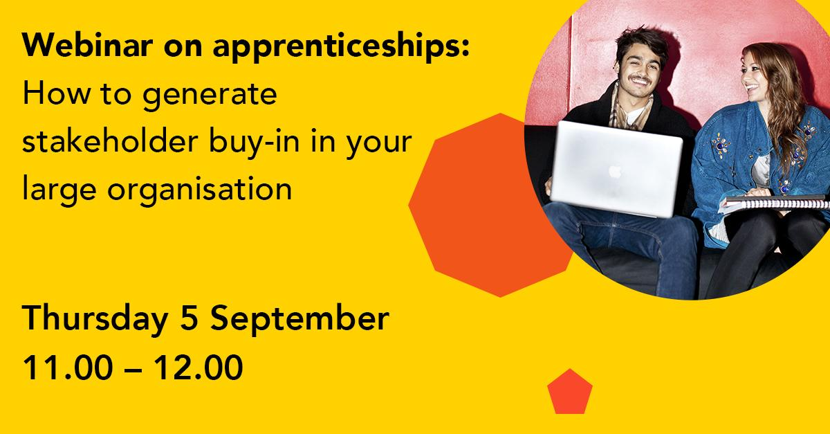 Key webinar bit.ly/2YFlWYk designed to cover how to overcome internal barriers including key messaging for the 20% off-the-job learning. Hosted by @Gibson1Paula and @BryonyKingsland #Apprenticeships