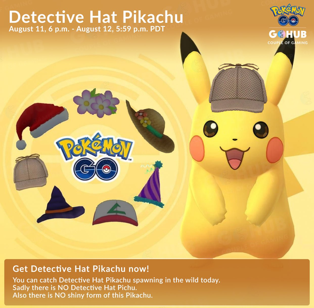 Couple Of Gaming A Twitter Last But Not Least Today You Ll Get A Chance To Encounter The Iconic Detectivepikachu In The Wild Sadly There Is No Detective Pichu
