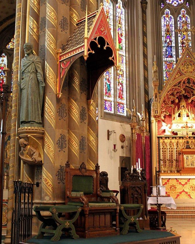 Interior of #StChad #Cathedral, #Birmingham. #awnpugin.1841.  #pugin #augustuspugin #gothicrevival #stchadcathedral #gothicrevivalarchitecture #architecturedesign #architecturaldesign #interiordetail #architecturaldetail #earlofshrewsbury #interiordecorating #interiorarchitecture<br>http://pic.twitter.com/7178ijHA8e