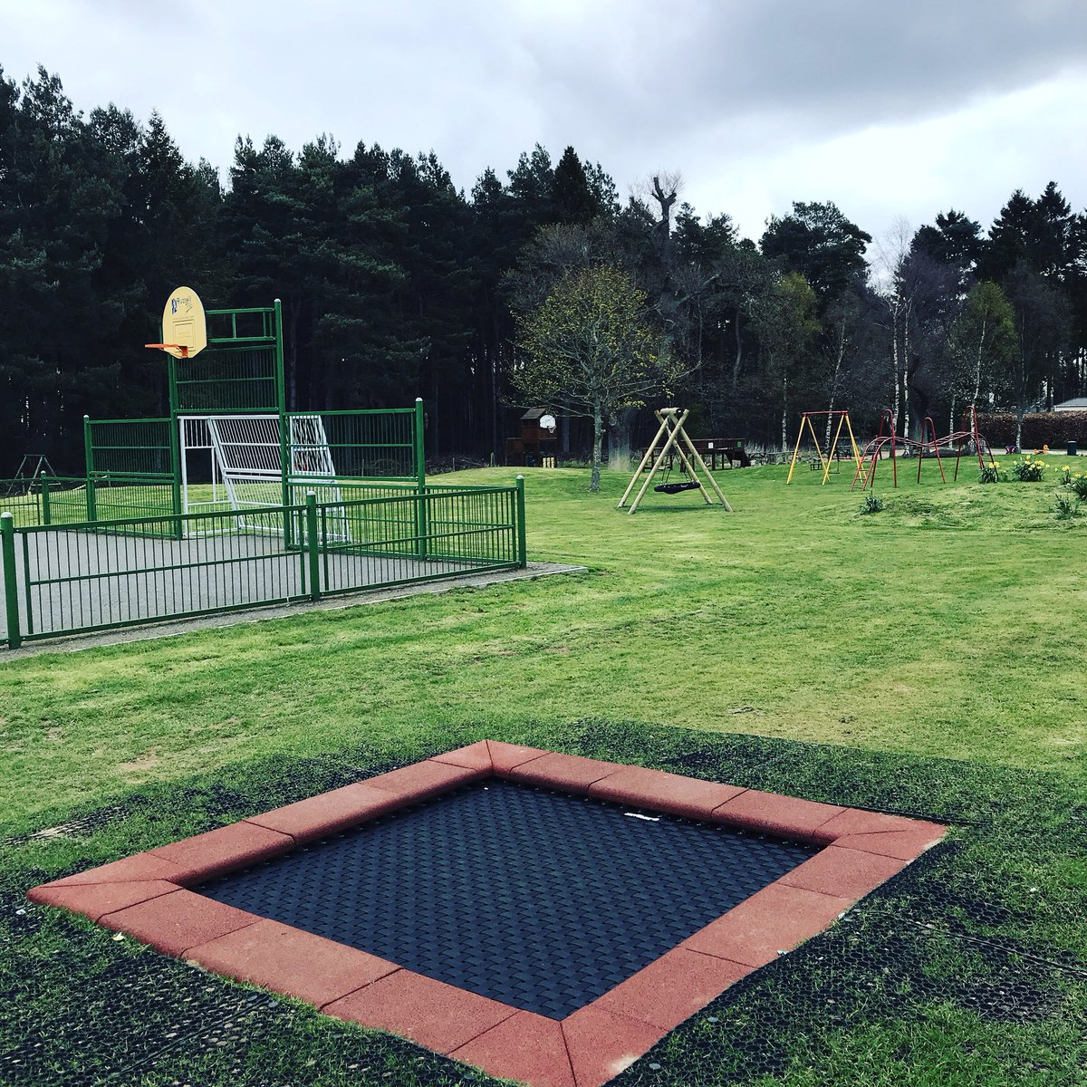 Image for Has anyone tried the new trampoline in the play area yet? I have ???? ???? https://t.co/WaPzigp4dG