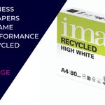 Image for the Tweet beginning: Image High White recycled papers