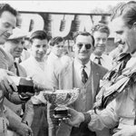 The Clerk of the course ensuring circuit operations flow smoothly.  #OultonPark Gold Trophy '61 #GrahamHill 1st E-Type Jaguar #Motorsport
