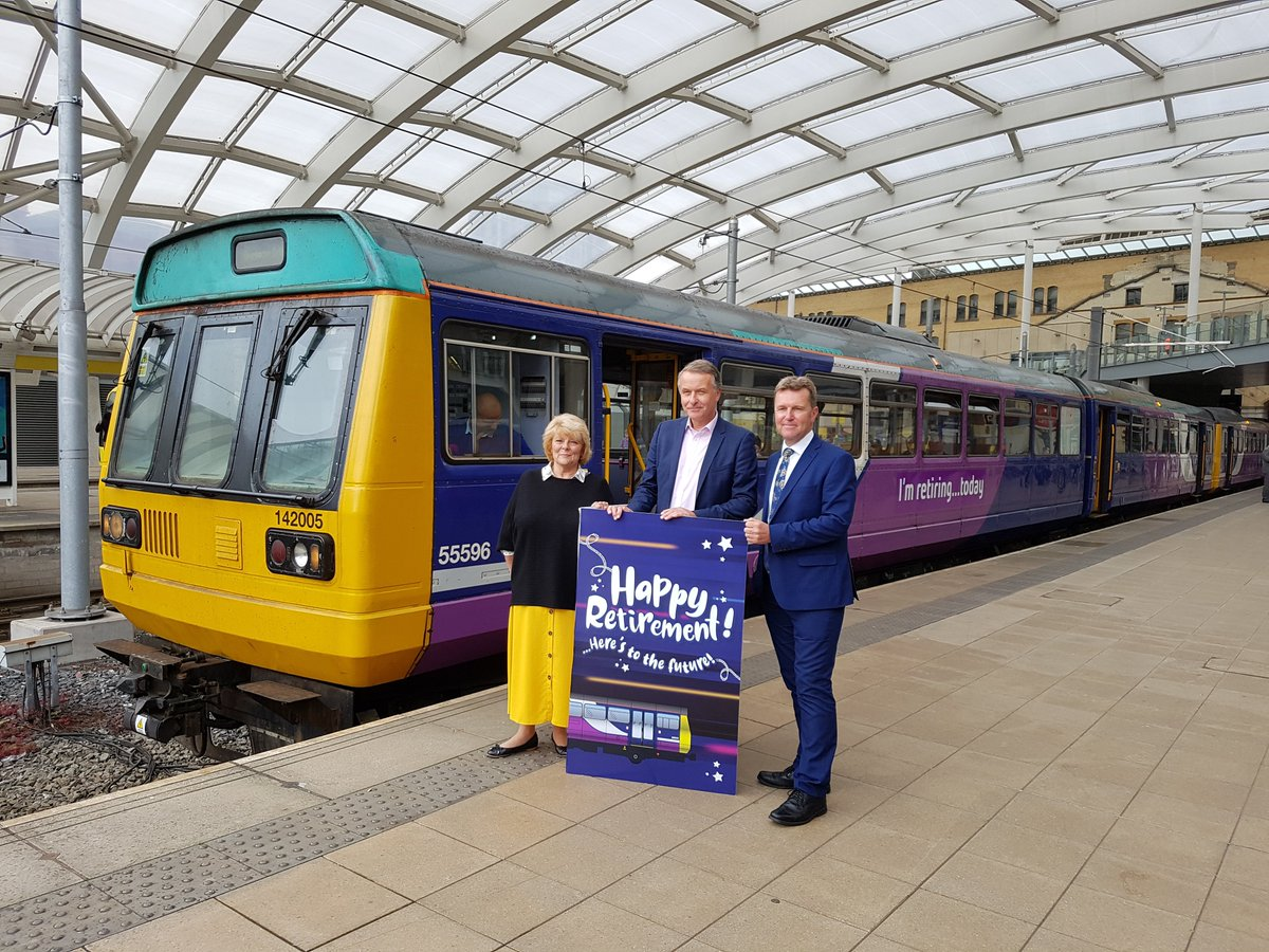 A final departure to Pacer Unit 142 005, age 32.5 years and 3 million miles. 👋🚞👋 Passengers on @northernassist will welcome the retirement of these uncomfortable trains. The railway must now ensure new trains provide more reliable and punctual services. #PassengerVoice