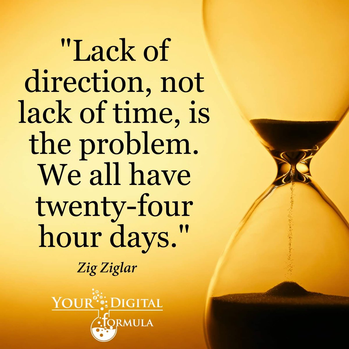 Lack of direction, not lack of time, is the problem. We all have twenty-four hour days. ~Zig Ziglar #SuccessTRAIN #IQRTG #spdc  #InspireThemRetweetTuesday <br>http://pic.twitter.com/mCq0cNrDyl