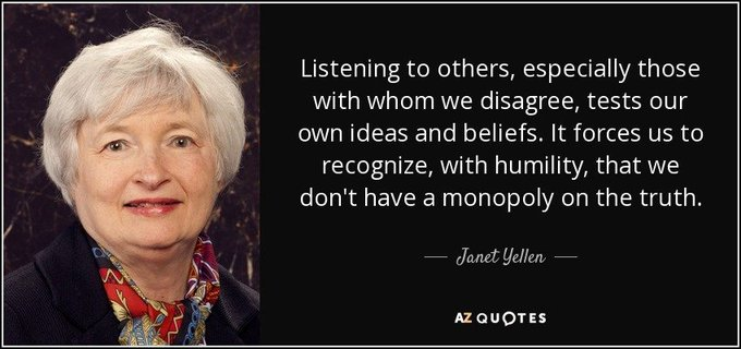 "August 13:Happy 73rd birthday to Former Chair of the Federal Reserve,Janet Yellen(""2014-2018\"")"