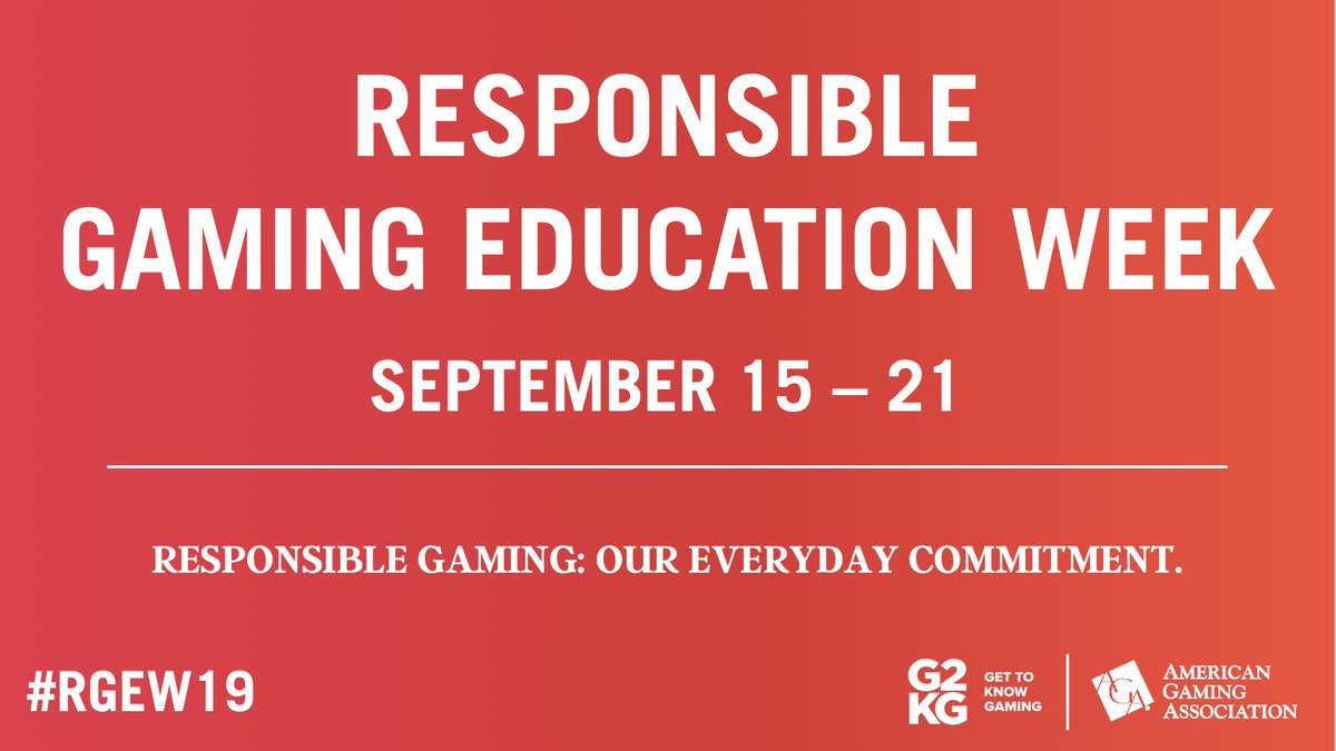 Responsible gaming efforts make an impact and is a commitment for G2E and the AGA to help educate and provide resources. Stay tuned for more information on Responsible Gaming Education Week. #GlobalGamingExpo #G2E #G2E2019 #gaming #casino #gamingindustry #AGA #RGEW2019
