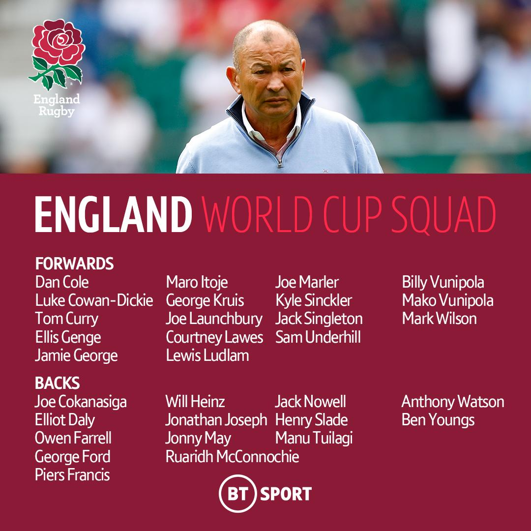 test Twitter Media - England have named their World Cup squad 🏴󠁧󠁢󠁥󠁮󠁧󠁿🌹 https://t.co/ERsuqSxXv5