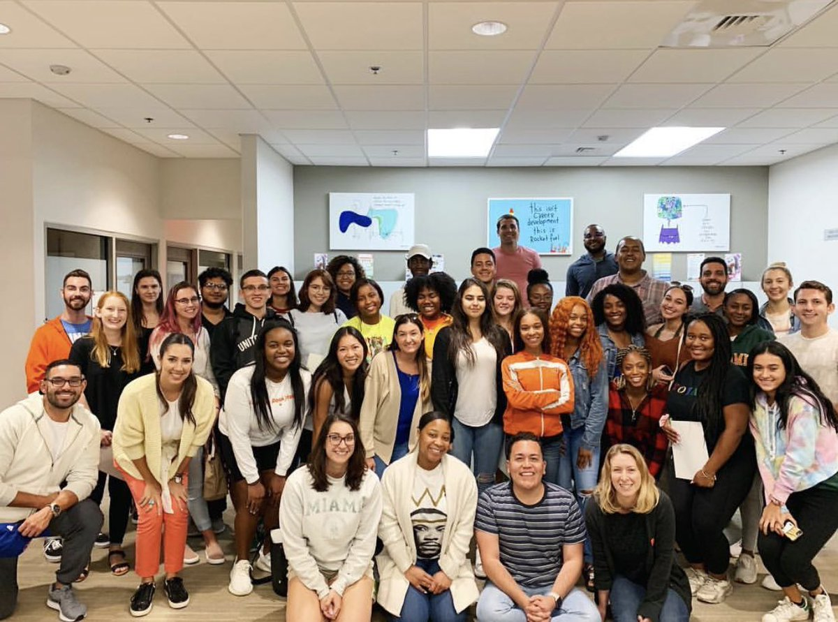 This! Our @Toppel student and professional staff gearing up for an unforgettable academic year. #goaldiggin #umiami #diversity #inclusion @univmiami<br>http://pic.twitter.com/vuQgAc7VWL – à Toppel Career Center