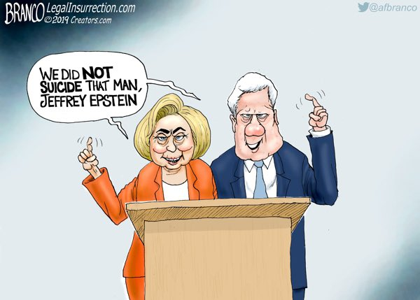 A.F. Branco Cartoon – We Want You To Listen To Us legalinsurrection.com/2019/08/we-wan… #EpsteinSuicide #Epstien #Clinton