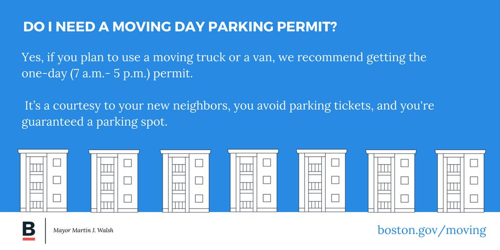 Using a moving van? Reserve a parking spot. You need to apply at least two weeks ahead of your move: ow.ly/JAlO30ejwdm #movingday
