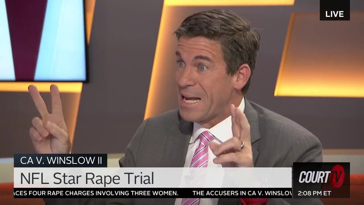 We're just over a month away from the start of former NFL star Kellen Winslow, Jr.'s second trial on rape charges. Here is a recent CourtTV appearance in which I analyzed the opening statements in the first trial:  https://t.co/iWDUeD2llO https://t.co/xrAwMXrWCK