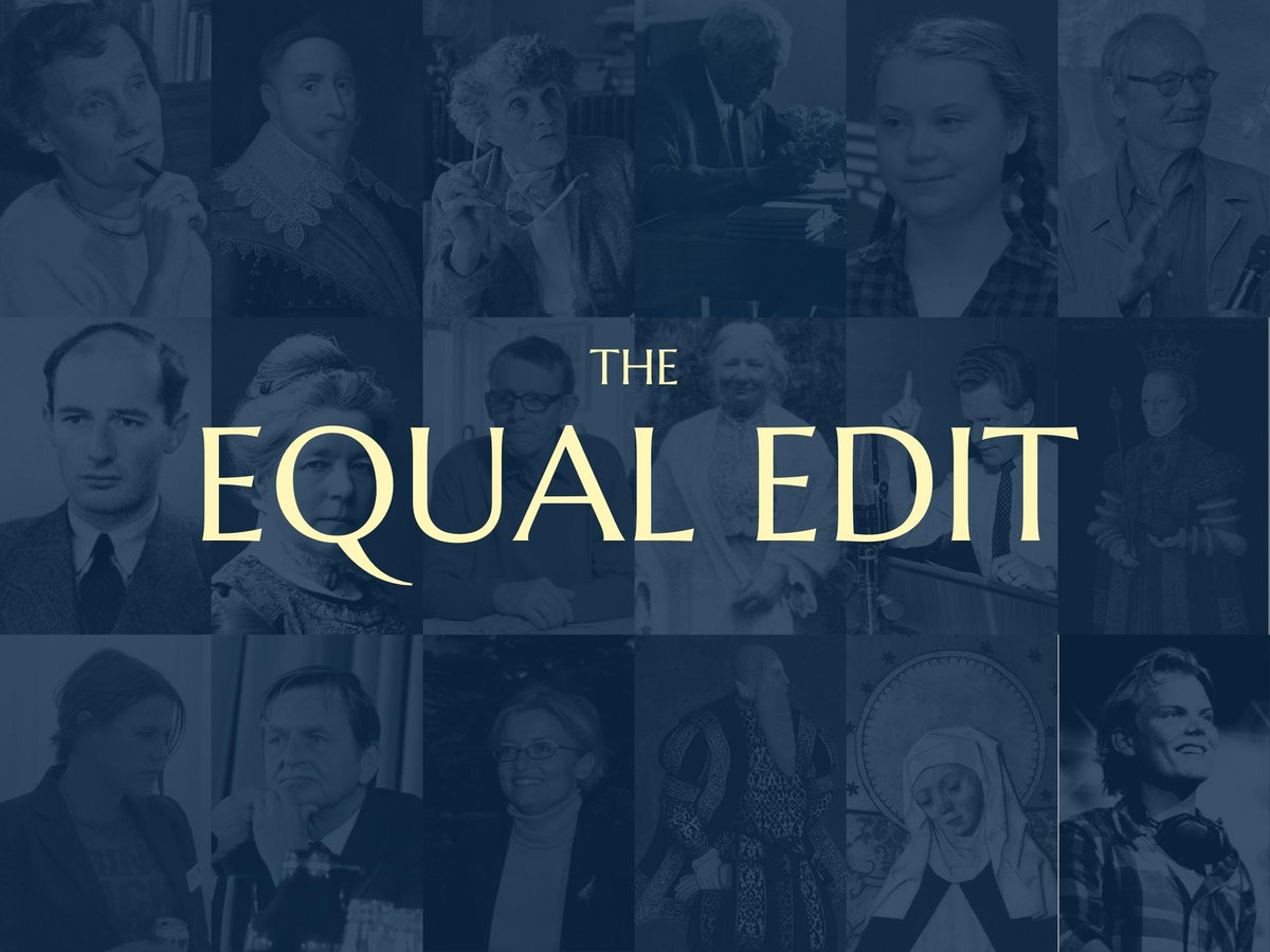 This is the Equal Edit - a project to make Swedish history more gender equal on Wikipedia.