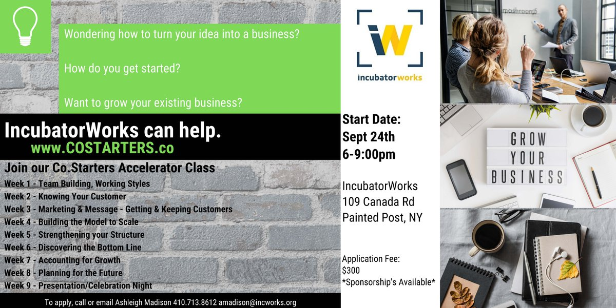 Still time to register for our next Cohort! Co.Starters starts Sept 24!
