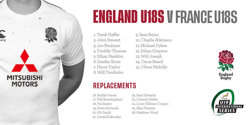 test Twitter Media - U18s | Here's your England squad to face France tomorrow in the U18 International Series 🌹  Preview ➡ https://t.co/9WgrwkA5Od https://t.co/SsD71zmuZJ