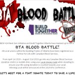 Image for the Tweet beginning: BTA Blood Battle Canadian Blood Services