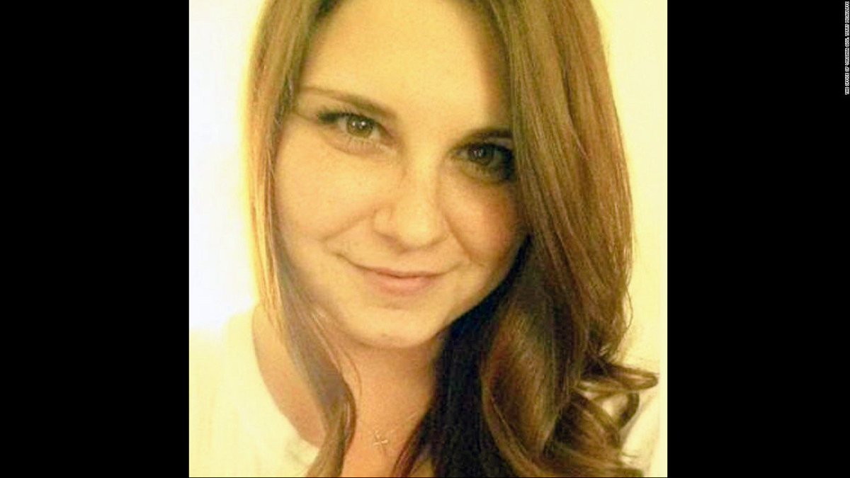 """Two years ago today, the world lost a beautiful voice and better soul : #HeatherHeyer She stood against antisemitism, misogyny, racism, and xenophobia of Trump's """"many fine people"""" in #Charlottesville. #NeverForget her voice. If we stand together, we can speak with #OneVoice1.<br>http://pic.twitter.com/jJwZB7pB9J"""