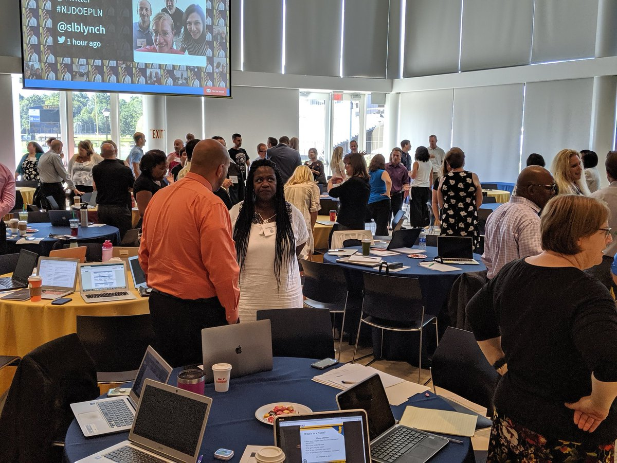 What's in a name? Working on equity issues with the @NewJerseyDOE PLN members.