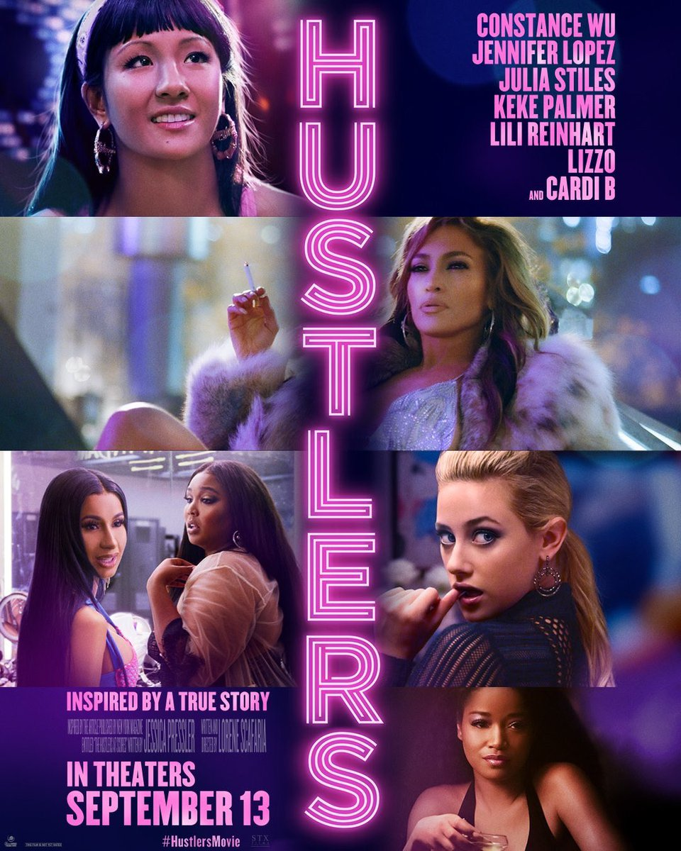 Check out the official poster for the film #HUSTLERS  coming to theaters this September! #JLo #CardiB #ConstanceWu @HustlersMovie @JLo @ConstanceWu @STXEnt @LoreneScafaria <br>http://pic.twitter.com/0S7dE70Y4c
