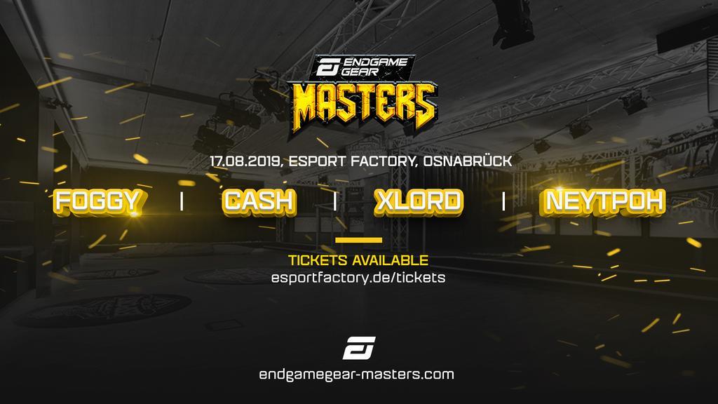 Diesen Samstag findet das Finale der Endgame Gear Masters in Warcraft 3 bei uns statt! Mit dabei sind unter anderem die vier Finalisten Xlord, Foggy, Cash und Neytpoh. Der Einlass beginnt um 12:00 Uhr. TICKETS: esportfactory.de #wc3