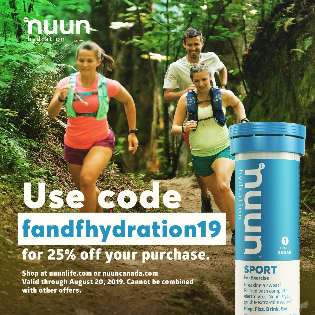 Wanna stay hydrated in the tastiest way?!   Try @nuunhydration now with code fandfhydration19 between now and Aug 20 for 20% off your purchase on their website!! #nuunlife #nuunlove #teamnuun #nuunbassador #nuunbassador2019 #WIrunner<br>http://pic.twitter.com/62azdotntC
