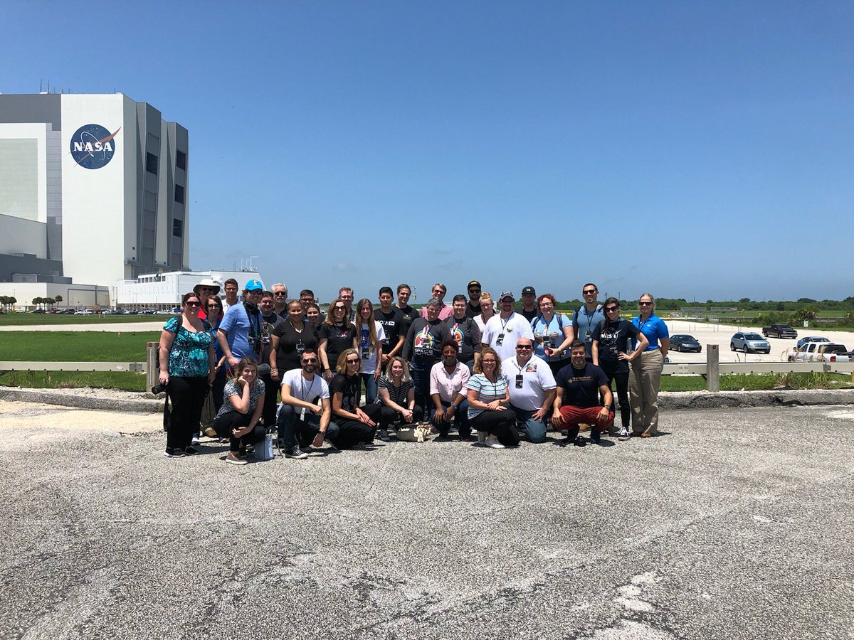 Our #NASASocial participants today represent podcasters from all over the world. They've been exploring behind-the-scenes here at @NASAKennedy, learning about our future #Artemis missions to return humanity to the Moon and eventually Mars.