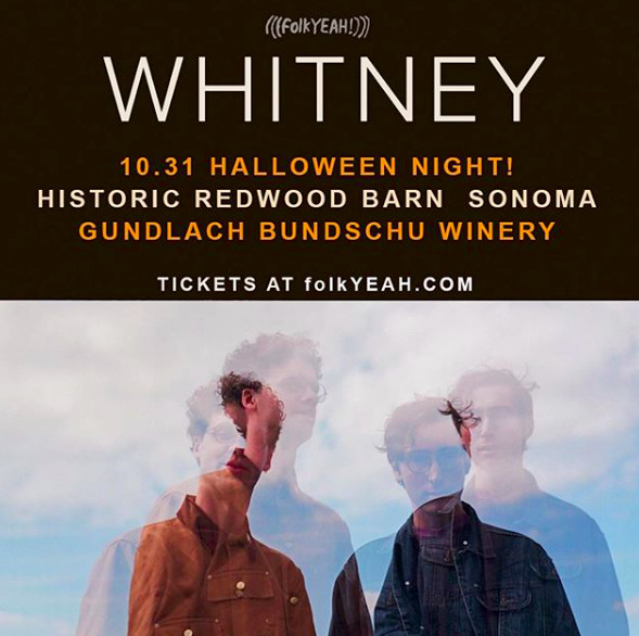 Halloween with @whitneytheband 🎃 @gunbunwine / Sonoma Tickets: folkYEAH.com